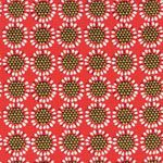 Lewis & Irene Fabric: New Forest Red Retro Flower (per 1/4 metre)