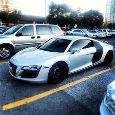 Chrome and black Audi R8 #carporn