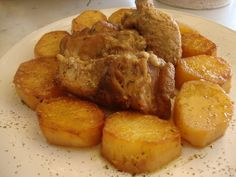 Χοιρινό με μουστάρδα και πατάτες !! ~ ΜΑΓΕΙΡΙΚΗ ΚΑΙ ΣΥΝΤΑΓΕΣ Greek Recipes, Pretzel Bites, French Toast, Healthy Recipes, Healthy Foods, Pork, Bread, Chicken, Dinner