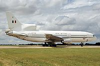 UK - Air Force, Lockheed L-1011-385-3 TriStar C2A (500), Fairford, England, July 21, 2003, ZE706, 216 Squadron, RAF Brize Norton, seen taxiing to the EOR at RIAT 2003. Fuji 100 slide scan. One of the last shots taken