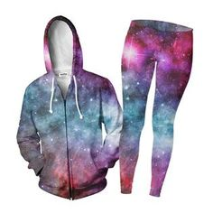 """""""If you just can't get enough of our Galaxy Love design, this is the deal for you! Love Design, Zip Hoodie, Joggers, Cute Outfits, Leggings, Hoodies, Sweaters, Jackets, Collection"""