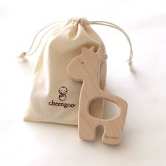 Giraffe Wood Teether