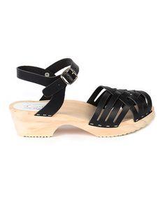 Black Barcelona Leather Sandal by Maguba #zulily #zulilyfinds