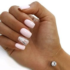 Gorgeous pink nail art