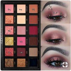Huda Beauty Rose Gold Palette - Augen Make-Up Eye Makeup Glitter, Rose Gold Makeup, Eye Makeup Art, Smokey Eye Makeup, Mac Makeup, Huda Beauty Rose Gold Palette, Huda Beauty Eyeshadow, Huda Beauty Makeup, Mac Eyeshadow