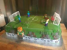 Football minecraft cake