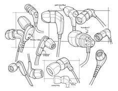Sketches we like / Headphones / pencil / Linedrawing / at Tasty Sketch