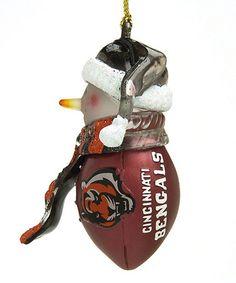 Another great find on #zulily! Cincinnati Bengals Football Snowman Ornament #zulilyfinds WHO DEY!
