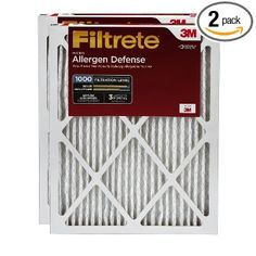 Filtrete Micro Allergen Defense Filter, MPR 1000, 14 x 20 x 1-Inches, 2-Pack