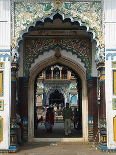 The main entrance of the Janaki Temple in Janakpur, Nepal (by yadavop).