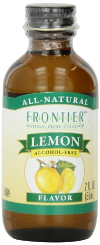 Frontier Lemon Baking Flavor Bottle (Pack of Alcohol Free, Baking Ingredients, Image Link, Lemon, Amazon, Bottle, Check, Food, Riding Habit