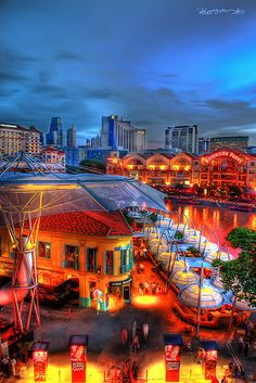 Clarke Quay has become one of Singapore's leading dining & entertainment precincts after the old godowns were beautifully restored...