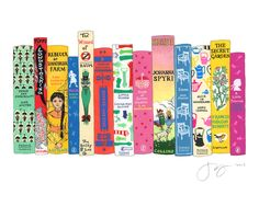 Girl Stars by Jane Mount: Classic stories with an amazing girl as the protagonist. #Illustration #Books #Girls