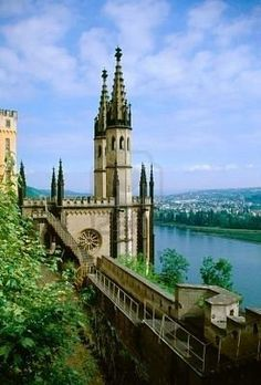 Koblenz, Germany is so beautiful. It's where the Moselle River meets the Rhine River.