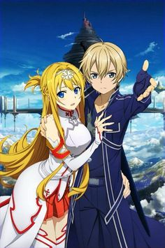 Alice and Euguo as Asuna and Kirito Sword Art Online Alo, Online Art, Manga, Sword Art Online Wallpaper, Kirito Asuna, Accel World, Online Anime, Beautiful Anime Girl, Anime Artwork