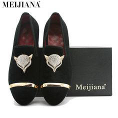 Mei Jia NA Handmade Mens Loafers Suede Leather Fox Metal Buckle Pointed Toe Brand Shoes Pointed Toe Flats, Cool Things To Buy, Stuff To Buy, Metal Buckles, Suede Leather, Loafers Men, Casual Shoes, Men's Shoes, Fashion Trends