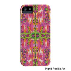 iPhone 5 Case, Pink iPhone case, Funky Abstract Art, iPhone cases, by Ingrid Padilla, iPhone 5S case, iphone 6