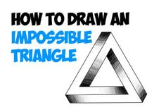 Today I will show you how to draw something really cool. I will show you how to draw an impossible triangle..the perspective on this is all wrong and it boggles the eyes. When you draw this for your friends, they will think it is amazing!