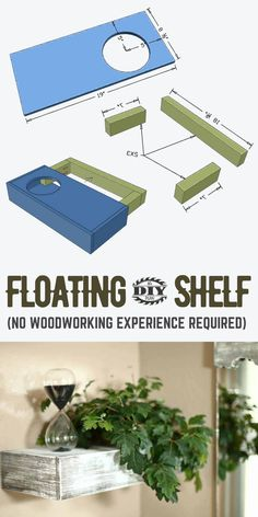 Depending on how much space you have or the look of a particular corner, you can build a few shelves with different sizes of plants. It's a great way to make an empty space look cozier. #shelf #diyprojects #diyideas #diyinspiration #diycrafts #diytutorial #gardening #diyfloatingshelf #homedecor #farmhousedecor #apartmentdecor Diy Furniture Plans, Diy Furniture Projects, Diy Home Decor Projects, Outdoor Projects, Interior Blogs, Interior Trim, Interior Design, Wood Crafts, Diy Crafts