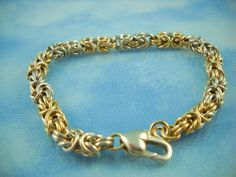 Sterling Silver & 10K Gold Wire Woven Bracelet from fluffymingo on Ruby Lane