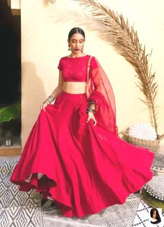 Bohemian Bridal Red & Gold Lehenga Set – Studio You are in the right place about REd dress silk Here we offer you the most beautiful pictures ab Indian Lehenga, Half Saree Lehenga, Lehnga Dress, Indian Gowns, Indian Attire, Indian Saris, Sabyasachi Lehenga Cost, Shaadi Lehenga, Simple Lehenga Choli