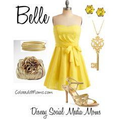 Belle inspired outfit. #Disney #DisneySMMoms