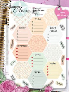 Sticker Hexagons Erin Condren Happy Planner von EmelysPlannerShop