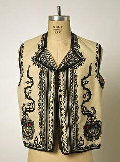 Bolero Date: Culture: Romanian Medium: wool, silk Folk Costume, Costumes, Designer Gowns, Historical Costume, Metropolitan Museum, The Incredibles, Silk, Clothes, Collection
