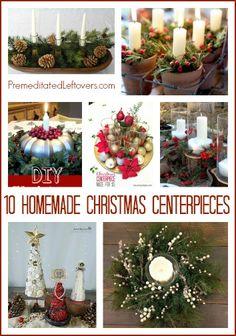 10 frugal Homemade Christmas Centerpieces