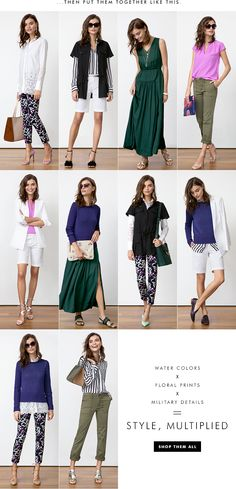 New Arrivals - 10 pieces, 10 outfits @ Banana Republic