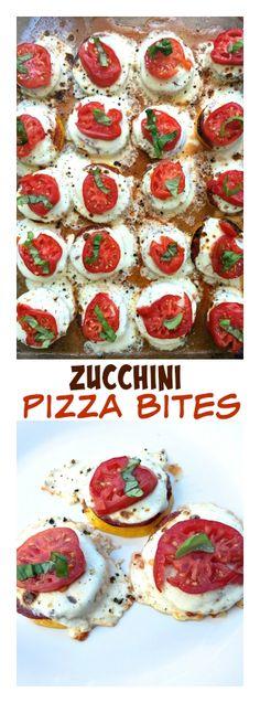 Zucchini Pizza Bites | ReluctantEntertainer.com