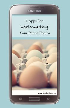 Just Leesha: Phone Apps for Watermarking Photos
