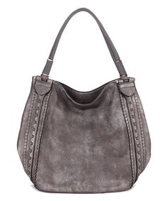 de1ee30f3cf4 Pewter Stitch-Accent Hobo  zulilyfinds Hobo Handbags