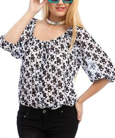 Take+a+look+at+the+White+&+Black+Squares+&+Triangles+Top+-+Plus+on+#zulily+today!