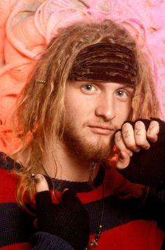 "Layne Staley ""Ozzy"" Look Sweather Beads Bandana Long hair Goatee Thumb up"