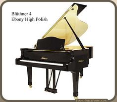 Blüthner Model 4 in Polished Ebony with Natural Maple - beautiful contrast! Piano Brands, Baby Grand Pianos, Black And White, Musical Instruments, Contrast, Universe, Models, Natural
