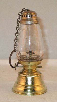 Skaters Lantern Copper Oil Lamp 1800 Light Antique Janet