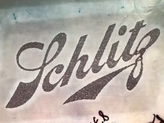 Schlitz Beer Vintage Silver Glitter Iron On Heat Transfer by VintageIronOn on Etsy