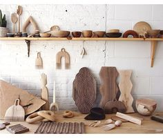 A pic from the ol' NY studio I haven't thought about in a while and try not to miss 🙃 Woodworking Inspiration, Pottery Sculpture, Space Crafts, Wooden Crafts, Wood Turning, Kitchen Accessories, Wood Wall, Floating Shelves, Wood Projects