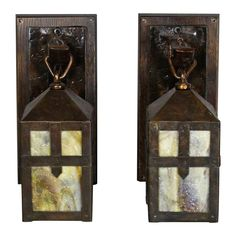 Pair of Sears, Roebuck & Co. (Chicago & Philadelphia) Monk Lantern Sconces | From a unique collection of antique and modern chandeliers and pendants at https://www.1stdibs.com/furniture/lighting/chandeliers-pendant-lights/