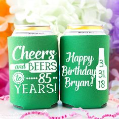 Birthday Cheers & Beers to 30 Years Can Coolers Cheers Birthday Favor Personalized Party Favors Birthday Gift for Him Beer Coolers Birthday Cheers, 85th Birthday, 30th Birthday Gifts, Adult Birthday Party, Birthday Favors, Personalized Party Favors, Time To Celebrate, Gifts For Him, Beer