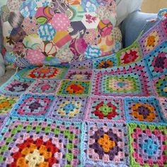 Happy colours in Mia's crochet and patchwork @ Mias Landliv