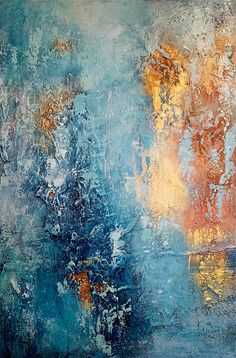 Cheating on the Blues I - Ginger Thomas Studios - Abstract Artist Boat Painting, Oil Painting On Canvas, Abstract Canvas, Abstract Art Blue, Painting Abstract, Painting Techniques, Painting Inspiration, Artist, Cheating