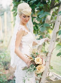 Claire Pettibone 'Orange Blossom' wedding gown http://www.clairepettibone.com/bridal/?cp=gowns/orange-blossom  - Makeup: Amie Decker - Photo: Anne Robert Wedding Photography
