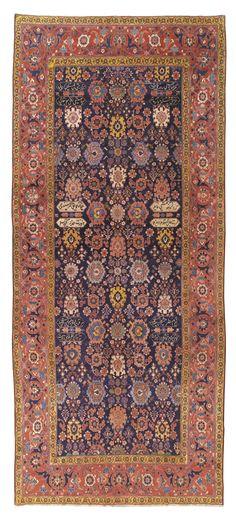 per prior pinner:  KHOROSSAN GALLERY CARPET, NORTHEAST PERSIA  Per me:  Love the colors, forms...