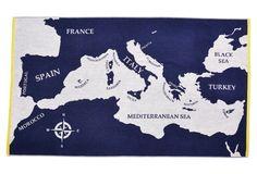 Mediterranean Beach Towel, Midnight Blue