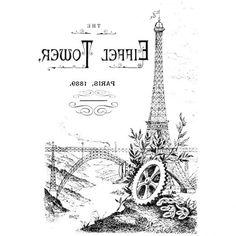 Эйфеллева башня. Париж / Декупаж / Картинки для декупажа