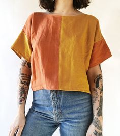 Easy Tee in Color Swap — Frond Sewing Clothes, Diy Clothes, Diy Fashion, Fashion Outfits, Womens Fashion, Blusas T Shirts, Pretty Outfits, Cute Outfits, Mode Inspiration