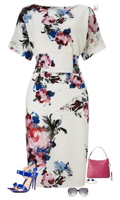 """""""Blurry flowers"""" by julietajj on Polyvore featuring Phase Eight, Christian Louboutin, Tommy Hilfiger, Dana Buchman, Janna Conner Designs, CARGO and Gucci"""