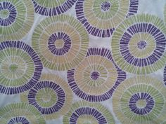 Fun starburst pattern fabric purple green gold by the yard
